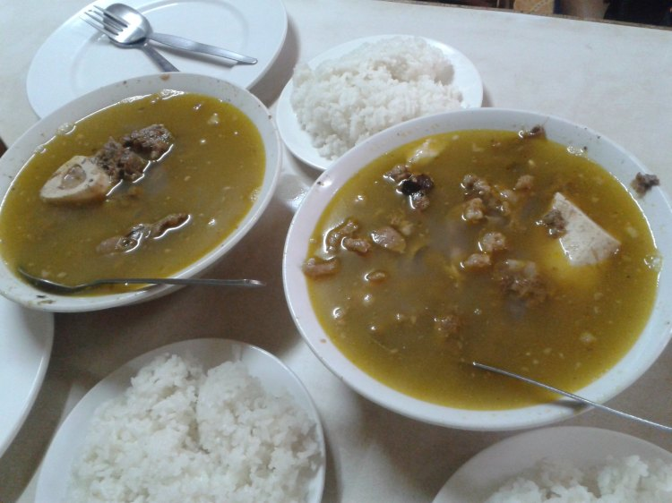 Beef bones boiled with batuan......super sarap with all the cholesterol goodness