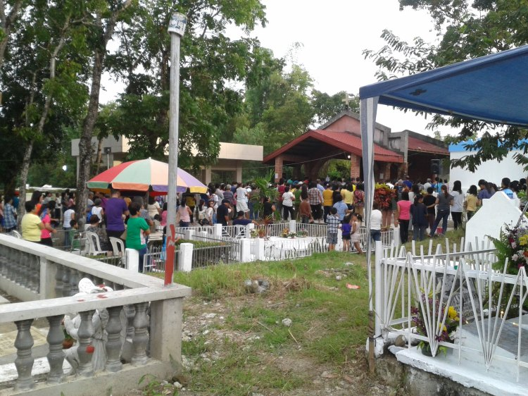 Attended holy mass at the San Miguel Catholic Cemetery