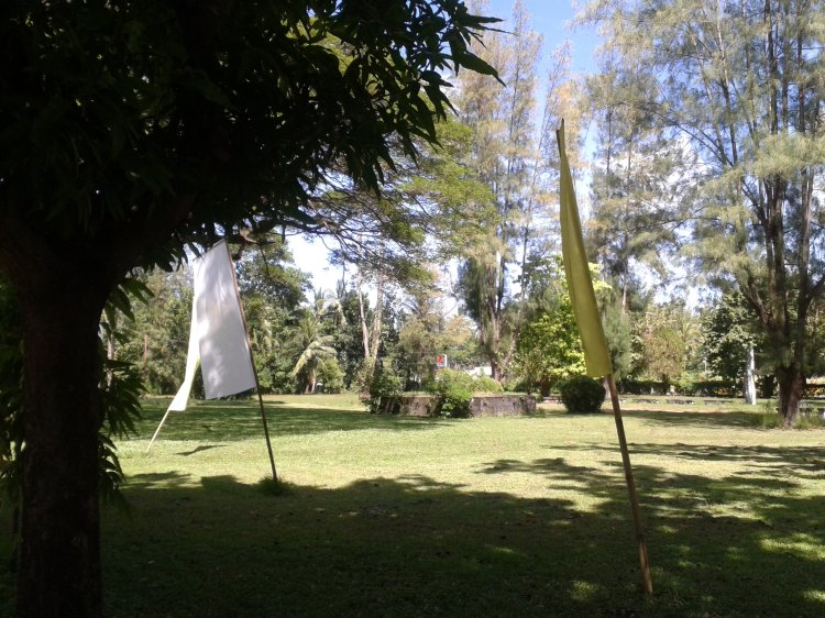 Grounds in front of the church
