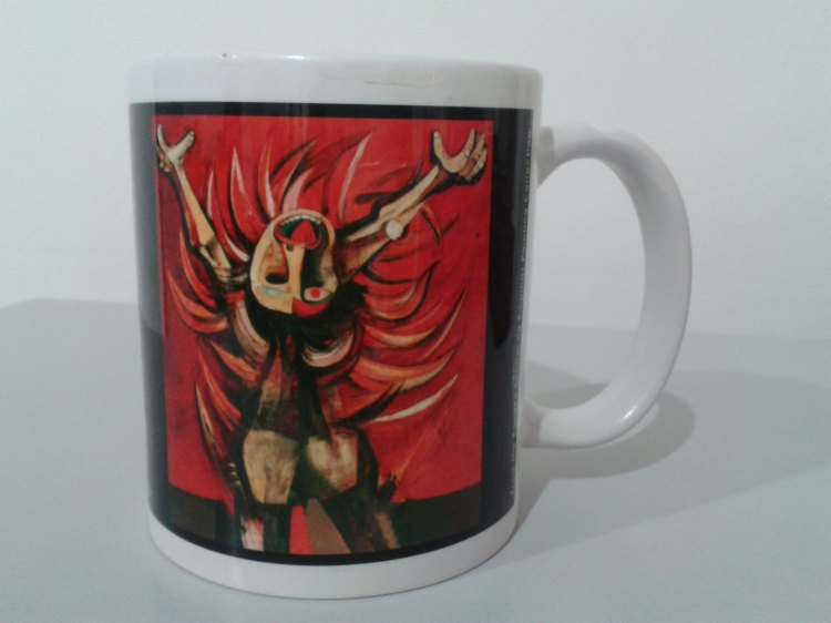 Mug from BSP featuring painting of Man on Fire by ANGkuikok