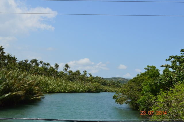 The right side view of the river going to Libertad.