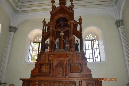 Altar on the right side of the Church