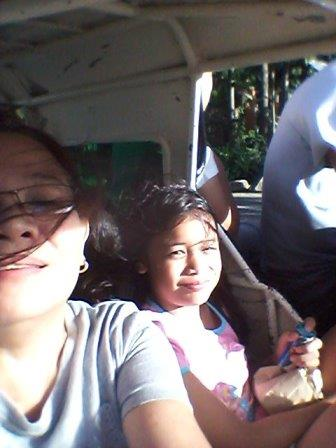 Riding in our service tricycle