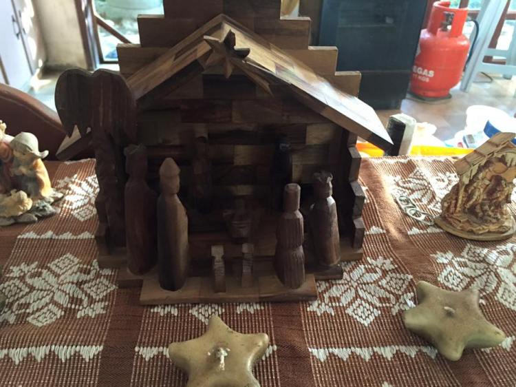 My first Nativity Set made of olive wood from Bethlehem.