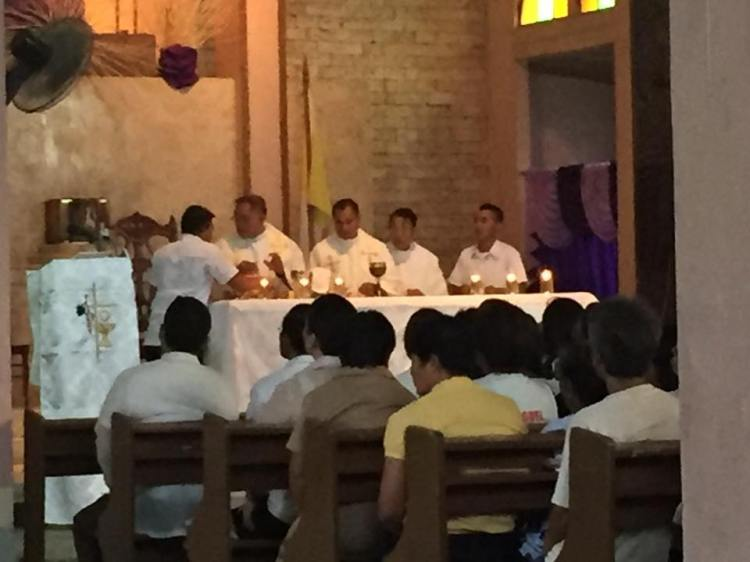 Concelebrated Mass with Monsignor Claudio Sale as main celebrant.